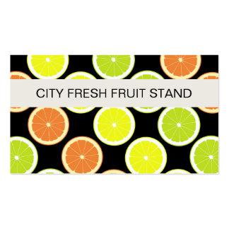 Tarjetas de visita del soporte de fruta
