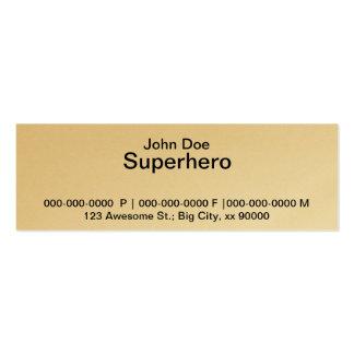 Tarjetas de visita del super héroe