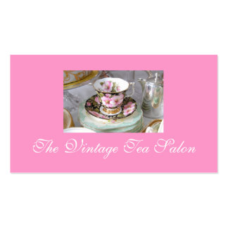 Tarjetas de visita del té del vintage
