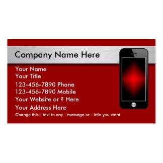 Tarjetas de visita del teléfono móvil