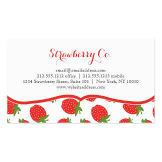 Tarjetas de visita del tema de la fresa