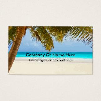 Tarjetas de visita del tema de la playa