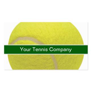Tarjetas de visita del tenis