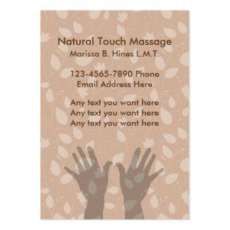 Tarjetas de visita del terapeuta del masaje