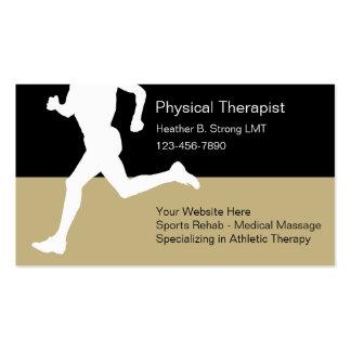 Tarjetas de visita del terapeuta físico