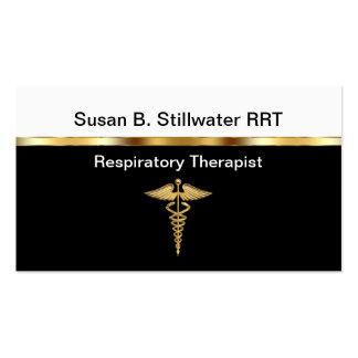 Tarjetas de visita del terapeuta respiratorio