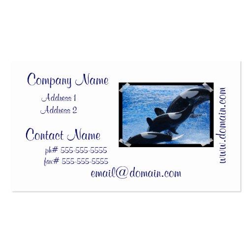 Tarjetas de visita del trío de la orca