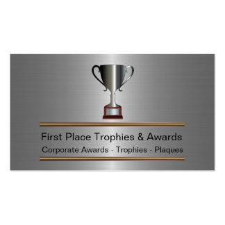 Tarjetas de visita del trofeo y de los premios