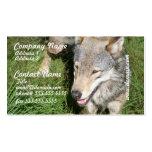 Tarjetas de visita del vagabundeo del lobo