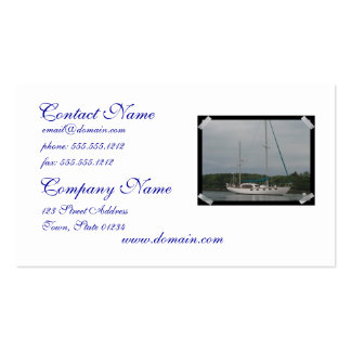 Tarjetas de visita del velero del placer