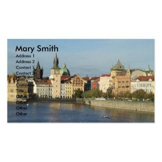 Tarjetas de visita del viaje de Praga