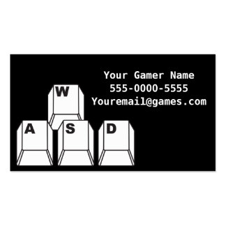 Tarjetas de visita del videojugador del videojuego