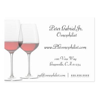 Tarjetas de visita del vino rojo del Oenophilist