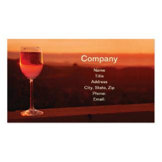 Tarjetas de visita del vino