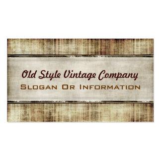 Tarjetas de visita del vintage del viejo estilo