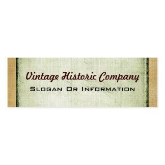Tarjetas de visita del vintage