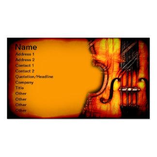 Tarjetas de visita del violín