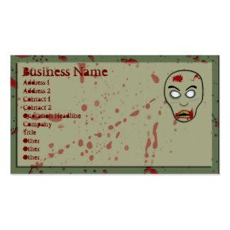 Tarjetas de visita del zombi