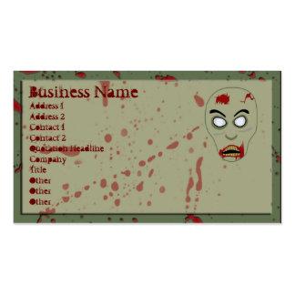 Tarjetas de visita del zombi v2