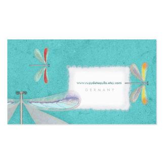 tarjetas de visita delicadas de los azules cielos