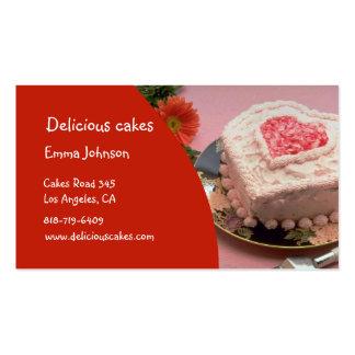 Tarjetas de visita deliciosas de las tortas