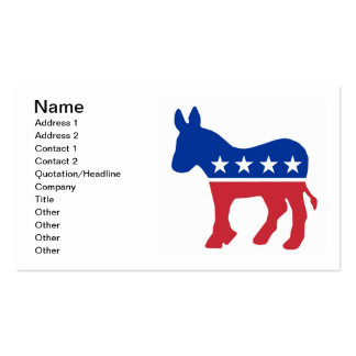 Tarjetas de visita Democratic del burro