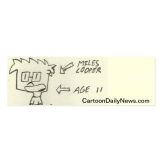 Tarjetas de visita diarias de las noticias del dib