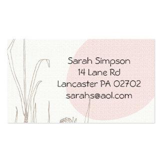tarjetas de visita dibujadas flor