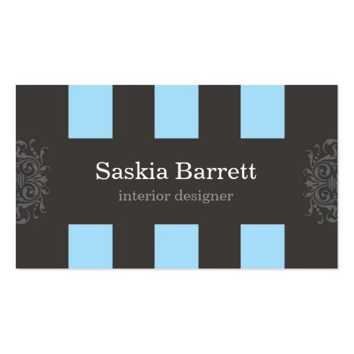 tarjetas de visita > diseño interior [azul]