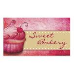 Tarjetas de visita dulces de la panadería
