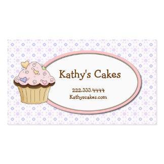 Tarjetas de visita dulces de la panadería de la ma
