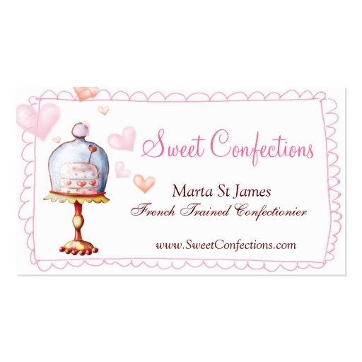 Tarjetas de visita dulces de los dulces