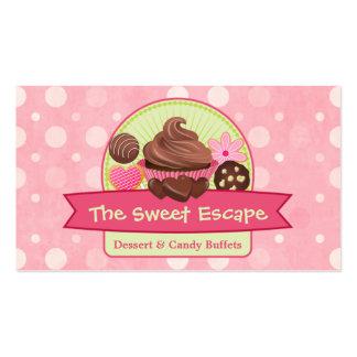 Tarjetas de visita dulces de los postres
