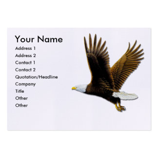 Tarjetas de visita, Eagle calvo americano Tarjetas De Visita Grandes