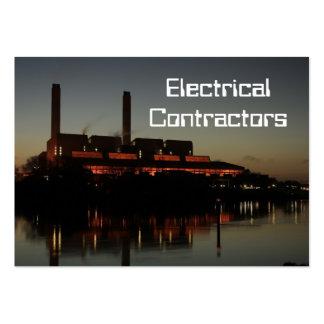 Tarjetas de visita eléctricas de los contratistas