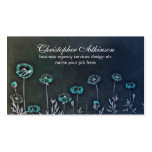 tarjetas de visita elegantes azules del vintage de