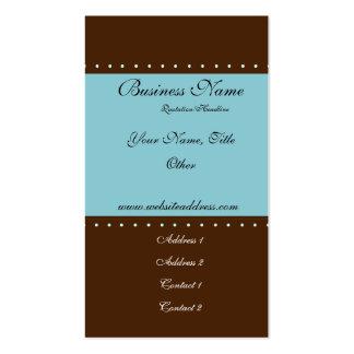 Tarjetas de visita elegantes de Brown y del trullo