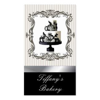Tarjetas de visita elegantes de la panadería del p