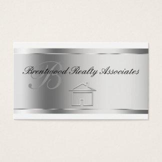 Tarjetas de visita elegantes de las propiedades