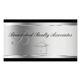 Tarjetas de visita elegantes de las propiedades in