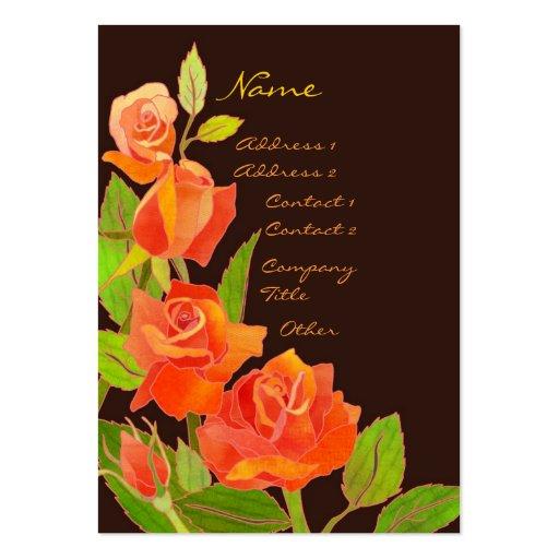 Tarjetas de visita elegantes de los rosas rojos