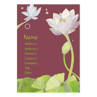 Tarjetas de visita elegantes de Lotus