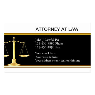 Tarjetas de visita elegantes del abogado
