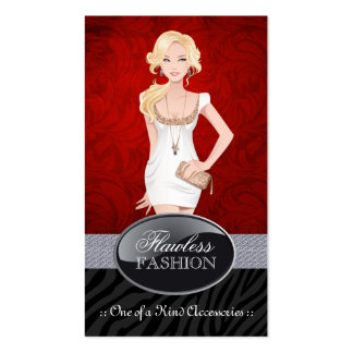 Tarjetas de visita elegantes del diseñador de moda