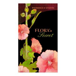 Tarjetas de visita elegantes del florista de los H