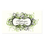 tarjetas de visita elegantes negras y verdes