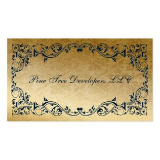 tarjetas de visita elegantes reales de los azules