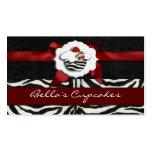 tarjetas de visita elegantes rojas de la magdalena