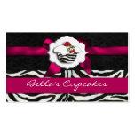tarjetas de visita elegantes rosadas de la