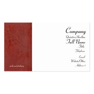 Tarjetas de visita envueltas rojo toscano